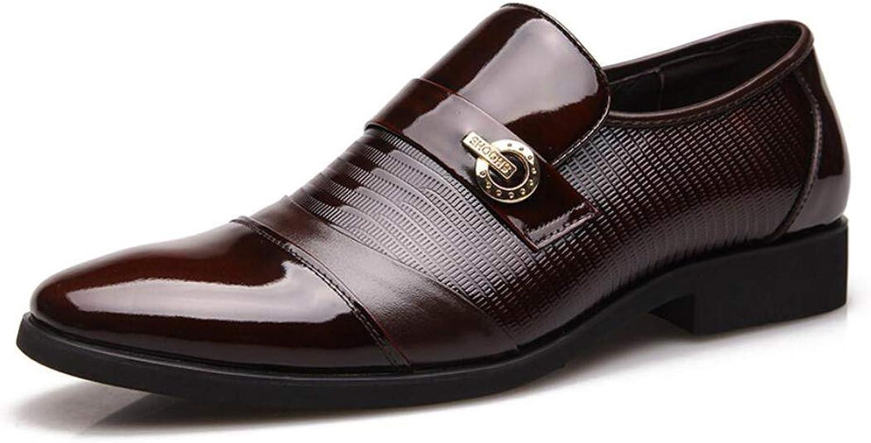 FLYSXP Lackleder Business Kleid Schuhe Herren Freizeitschuhe Freizeitschuhe Klassische Hochzeit Schuhe Mode Spitze Schuhe 38-44 Yards Herren Lederstiefel (Farbe   braun, Größe   44 EU)  Freizeit