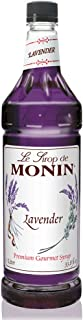 Monin - Lavender Syrup, Aromatic and Floral, Natural Flavors, Great for Cocktails, Lemonades, and Sodas, Vegan, Non-GMO, Gluten-Free (1 Liter)