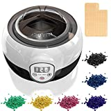 Maximum Power Wax Warmer Kit,FLOURS Hair Removal Waxing Kit with 6 Flavors Stripless
