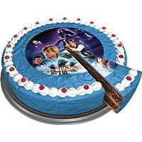 Star Wars Disco de Azúcar Decoración de Azúcar para Tartas o Pasteles 16 cm