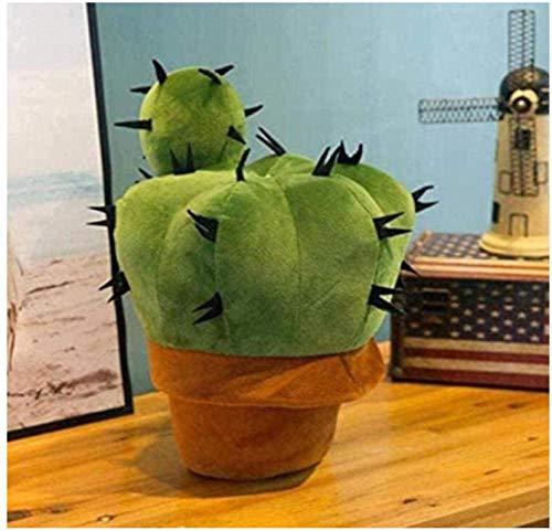 DINEGG Männer und Frauen Plüschtiere super weiche Kaktus Plüschtiere Geburtstag Valentinstag Halloween 37cm YMMSTORY