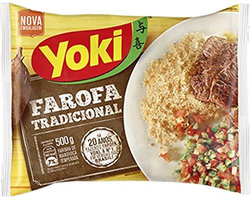 Seasoned Cassava Flour - Farofa de Mandioca Pronta - Yoki - 17.6 oz (500g)
