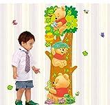 Winnie l'Ourson Tigrou Animal Cartoon Hauteur Stickers Muraux Pour Enfants Chambres...