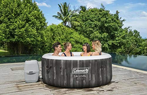 Coleman 90455 SaluSpa Miami 71-Inch x 26-Inch 4 Person Outdoor Portable Inflatable Hot Tub Spa with...