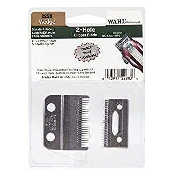 Wahl Professional Wedge 2 Hole Standard Clipper Blade #2228 – Designed for The 5-Star Legend – Includes Oil Screws and Instructions.