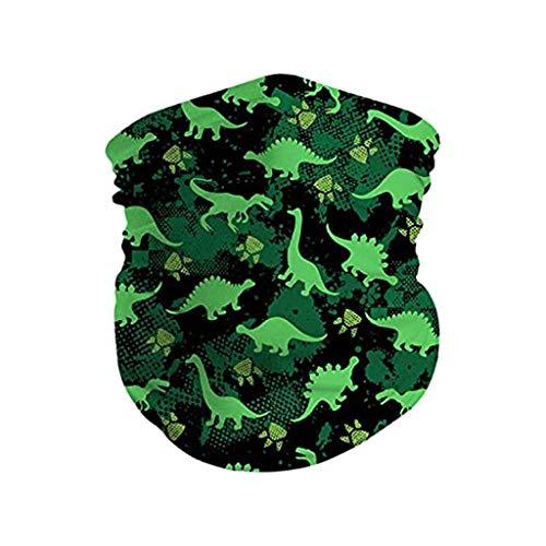 Multifunktionstuch für Kinder, Süßem Dinosaurier-Druckmuster Mundschutz Waschbar und Unbegrenzt Wiederverwendbar Schlauchtuch Kinder Jungen Mädchen Nahtlose Sturmhaube Sommer Staubdicht