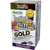 NaturesPlus Animal Parade Source of Life Gold Children's Multivitamin - Grape Flavor - 120 Chewable Animal...