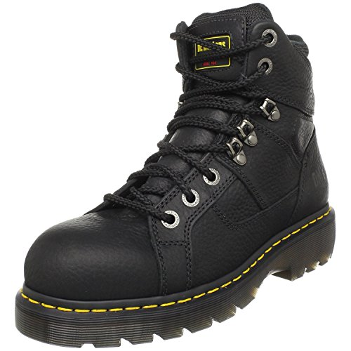 Dr. Martens, Men's Ironbridge Steel Toe Heavy Industry Boots, Black, 9 M US