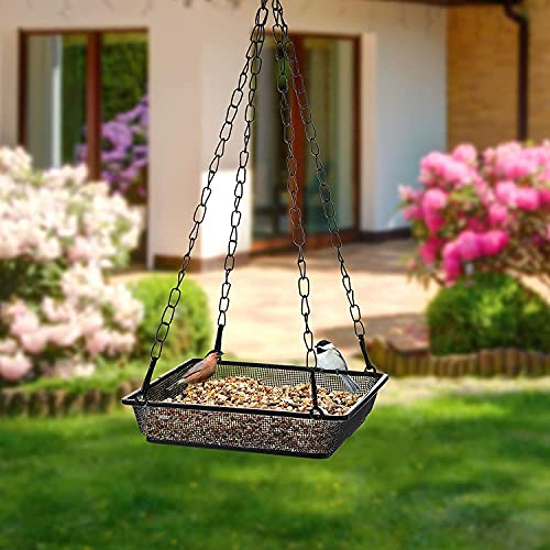 Ram® Metal Hanging Bird Feeder Tray Garden Outdoor Wild Bird Feeding Station Table