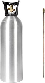 Co2 20 Lb Aluminum Cylinder Tank With Carry Handle And Dip Tube Cga 320 Valve Homebrew Beer Keg Hydroponics