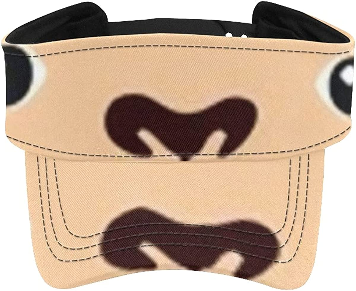 Sun Visor Hat Cute Monkey Portrait Flat Caps Cheap mail order specialty store Head f Regular discount Animal