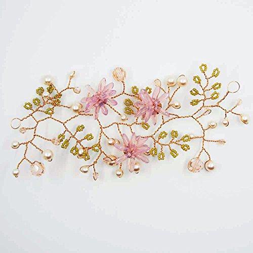 Bruid haaraccessoires met glazen bloemen en Swarovski rose La Bottega Liventina