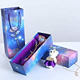 MyGiftsMate Galaxy Crystal LED Rose Flower 24k Infinity Eternity...