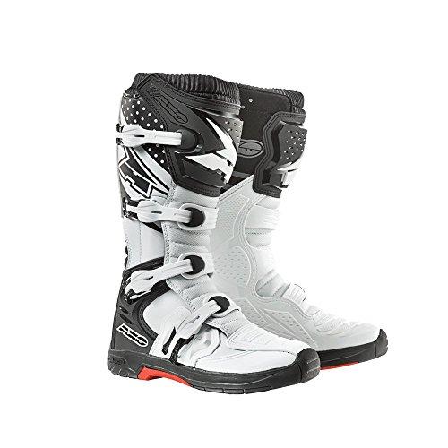 Axo Botas de Moto MX One, 39, Blanco/Negro