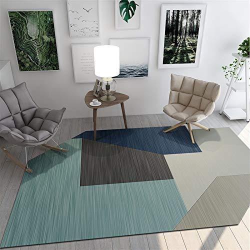 JSJJAWS Decoración Alfombra Moderna Simple de la geometría de alfombras y alfombras Oval Grande Manta Mesa Baja de la Estera del Piso Yoga Mat Antideslizante Alfombras Moderno Decoración