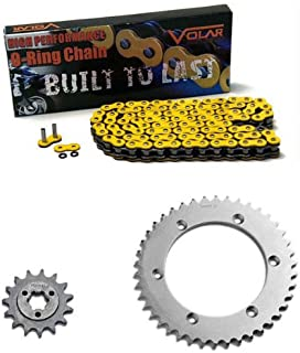 Volar O-Ring Chain and Sprocket Kit - Yellow for 1996-2019 Suzuki DR650SE