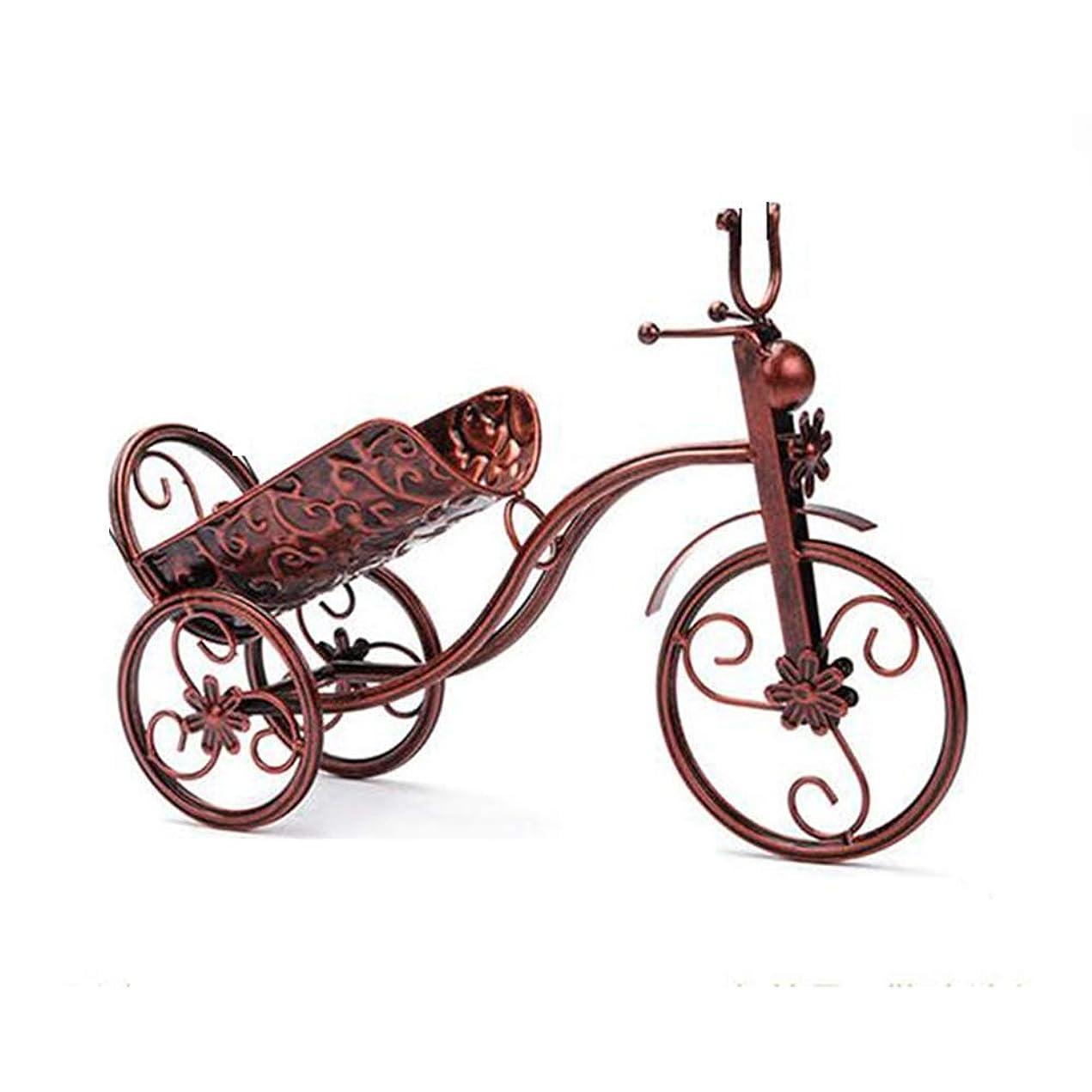 いつ子供時代貞FEIFEI ワインラック ワインラックワインキャビネットアイアンアート装飾ワインラックヨーロッパワインボトルホルダー - 2色 (色 : ブロンズ)