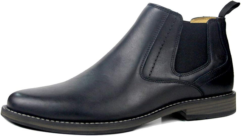 DANDANJIE Herren Stiefeletten Erwachsene Klassische Lederreitstiefel Formale Kleid Schuhe  | Elegante und robuste Verpackung