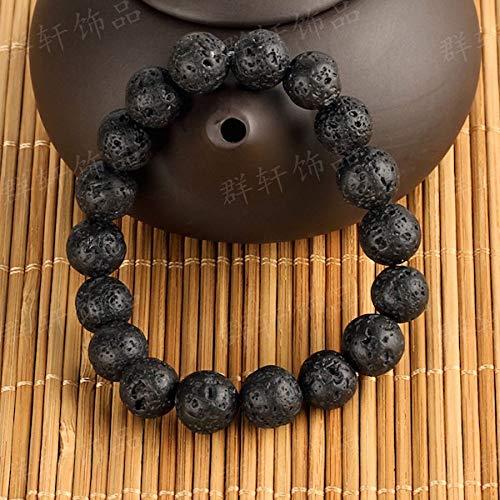 LLXXYY Stenen armband voor vrouwen, handgemaakte armband van natuurstenen parels 7 chakra vintage armband lavasteen diffuser voor etherische olie parels edelsteen energie armband voor vrouwen mannen kinderen paar