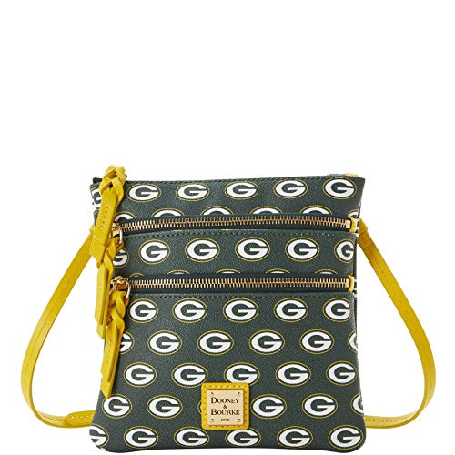 """Approx. dimensions: 8"""" x .25"""" x 7.75"""" Zippered main pocket , 2 exterior zip pockets Adjustable strap length: 23.5"""" Leather Spot clean"""