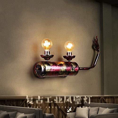 ZHUYU Leuchter-Licht-Halter-Licht Kreatives Motorrad Auspuff-Wand-Licht-Leuchter Retro Nostalgische Schmiedeeisen Metal 2-Light Wandleuchte Industrie Vintage Loft E27 Innenbeleuchtung Wand-Laterne-Küc