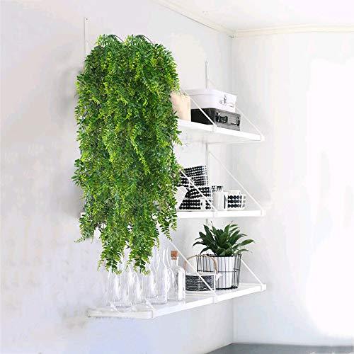 HUAESIN 2pcs Künstliche Hängepflanzen Lang Persischer Farn Kunstpflanze Hängend Plastikpflanzen Künstliche Pflanze Efeu Groß Grünpflanzen für Innen Außen Balkon Wand Topf Garten Deko 115cm - 5