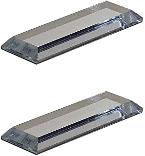 Mirart 1x3 Pull Handle, Self Stick Thick Acrylic Mirror Finger Glide Beveled Knob (2 Pack)