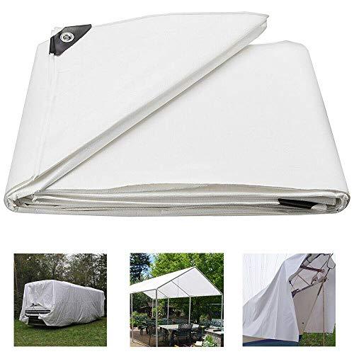 LLZH Parasol de Lona Cubierta de Tela Espesa Lona Blanca Tejida Impermeable Protector Solar Parasol paño Exterior Duradero toldo Lona alquitranada