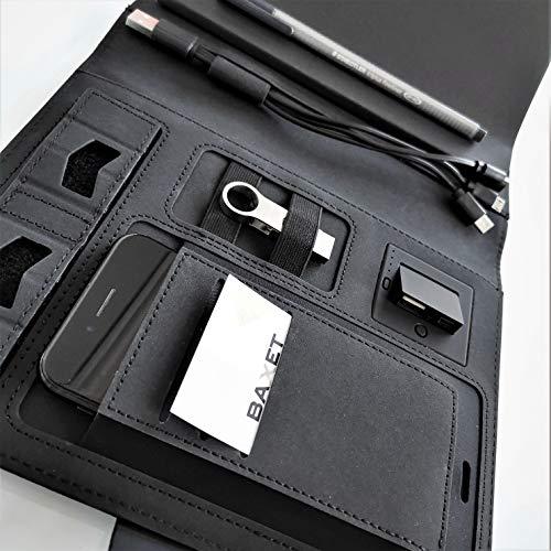 Organizer con POWER BANK 8000 mAh| Notebook con Power Bank | Cartella porta documenti con Power Bank integrato e blocco note | idea regalo