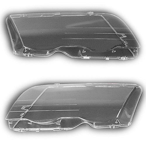 Arotom Car Headlight Lens Cover Fit for BMW 3 Series E46 4-Door 1998-2001 Pair