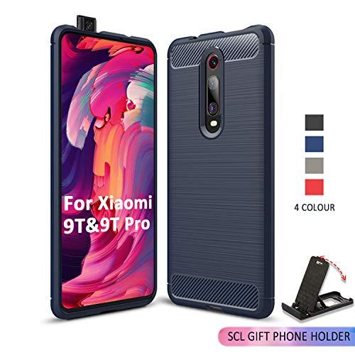 Preisvergleich Produktbild SCL Hülle Für Xiaomi Mi 9T Hülle Xiaomi Mi 9T Pro,  Handyhülle Exquisite Serie-Carbon Design Schutzhülle mit Anti-Kratzer und Anti-Stoß Absorbtion Technologie für Xiaomi Mi 9T / 9T Pro Blau