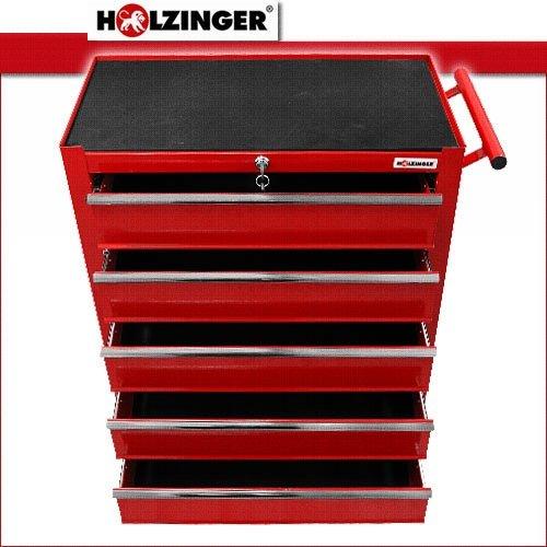 Holzinger Werkzeugwagen HWW1005KG – kugelgelagert (5 Schubfächer) - 7
