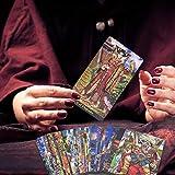 equival 78PCS Carta del Tarot Tarjetas De Juego De Mesa De Tarot para La Fiesta De Reunión Familiar 78 Tarot Illuminati Kit Tarot Cards Contemporary