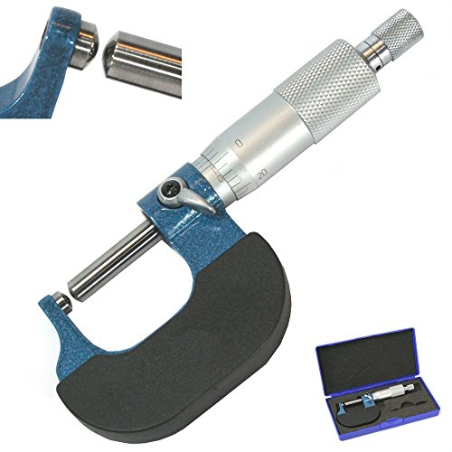 Anytime Tools Tube Micrometer Dual Ball Anvil Round Carbide Tip Pipe Cylinder (Ball on Both anvils)