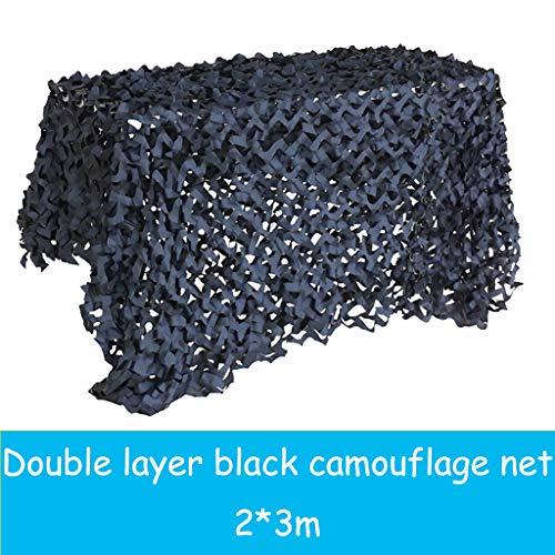 Le Filet De Camouflage Noir Pur De 2 * 3m Convient à La Décoration De Soirées à Thème Pour Protéger Votre Intimité Dans La Cour Ou Couvrir Le Balcon Et Le Toit, La Photographie étanche Et Aérienne