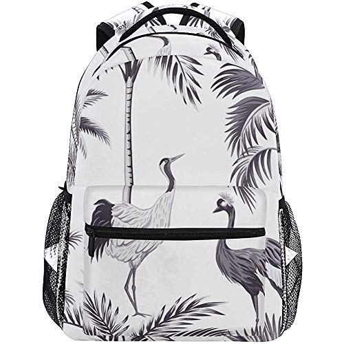 Beating Heart Tropical Vintage Botanical Purple Palm Tree Sac à Dos Scolaire léger Étudiants Collège Sac Voyage Randonnée Camping Sacs Sac à Dos décontracté