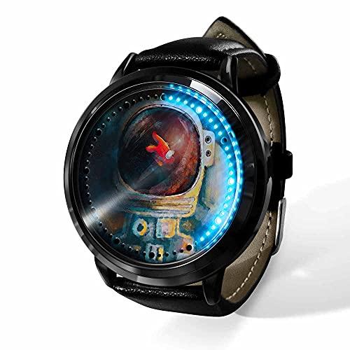 Relojes De Pulsera,Pantalla Táctil Led Reloj Among Us Anime Que Rodea Impermeable Cinta Luminosa Reloj Electrónico Creativo Regalo De Cumpleaños-A