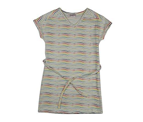 Baba Babywear V-Neck Kids Dress Stripes, Größen:98, Farbe:Weiß