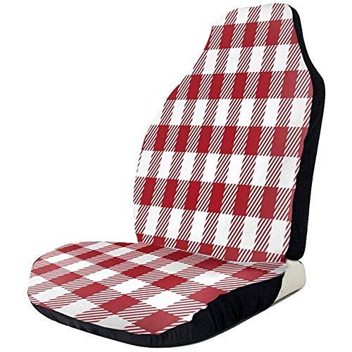 Alice Eva Le siège d'auto à carreaux vichy rouge recouvre le protecteur de siège d'auto antidérapant imperméable
