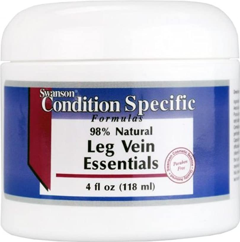 野望贅沢な悪性腫瘍Swanson 98%ナチュラル?レッグベインエッセンシャル LegVein Essentials Cream 118ml 【海外直送品】