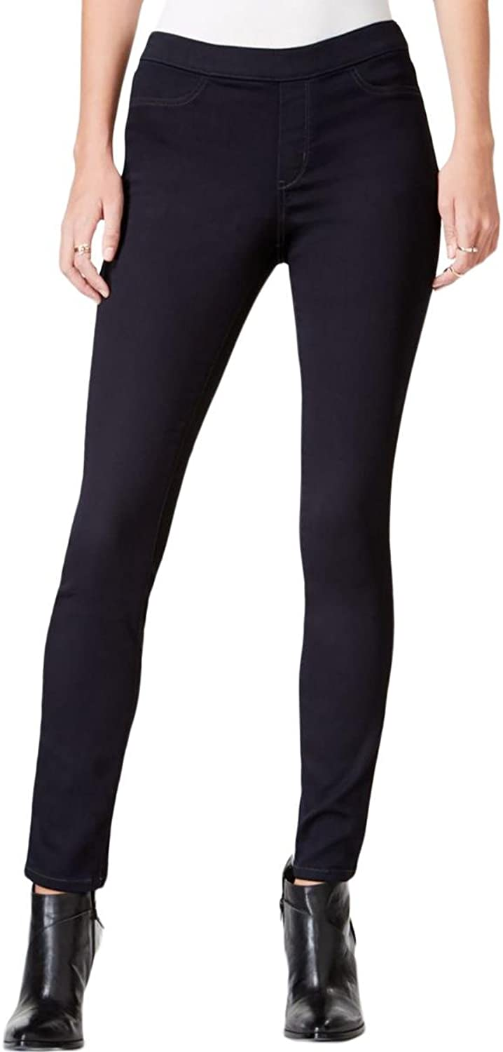 Maison Jules Womens Pull On MidRise Jeggings bluee S