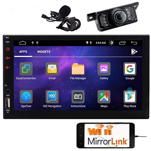 EINCAR Doppel-DIN-Android 10.0 Car Stereo 7-Zoll-Touch-Screen-Autoradio mit Bluetooth GPS Navigation 2DIN Funkempf?nger Android Head Unit Backup-Kamera-Unterst¨¹Tzung WiFi/Spiegel-Link/SWC/DVR/USB /
