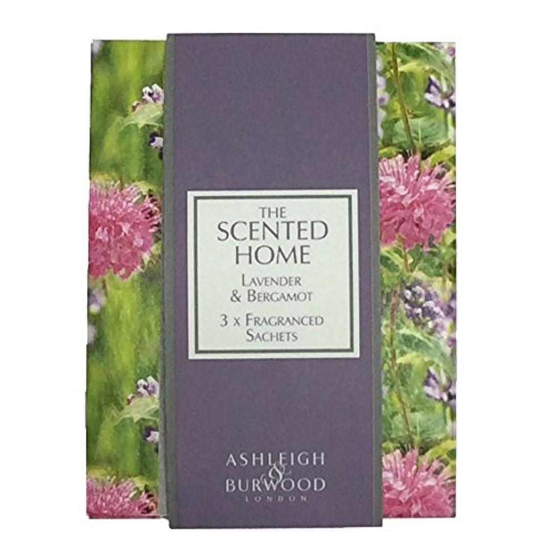賛美歌ボタン店員Ashleigh&Burwood サシェ×3個 ラベンダー&ベルガモット Sachet×3 Lavender&Bergamot アシュレイ&バーウッド