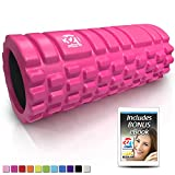 321 STRONG Foam Roller - Medium Density Deep Tissue Massager for Muscle Massage and Myofascial Trigger Point Release, with 4K eBook - Pink