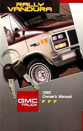 1992 GMC Vandura G Rally Owners Manual User Guide Reference Operator Book Fuses