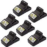 DXIA 6 Piezas Trampas para Ratones,Reutilizable Trampa Ratones Alta Sensibilidad, Ratonera de Plástico para Interiores y Exteriores, Trampa de Rat Reutilizable Fácil Ratonera Snap Trap