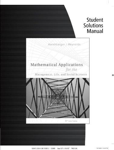 Student Solutions Manual for Harshbarger/Reynolds'...