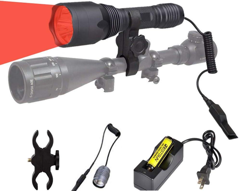 Tactical Red Hunting お得なキャンペーンを実施中 Handheld Flashlight High 贈答 LED Nigh Lumen