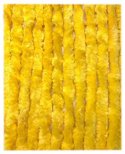 Moritz Flauschvorhang aus Chenille 90 x 220 cm gelb Türvorhang als Fliegenschutz Insektenschutz für Camping Wohnwagen