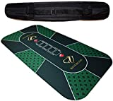 Rivergen Alfombra de póker 120 x 60 cm (Verde) Espesor 3 mm | Bolsa de...